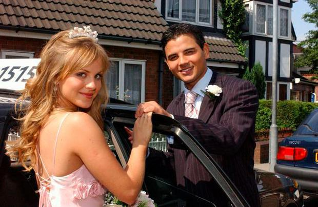 Ryan Thomas and Tina O'Brien in Coronation Street