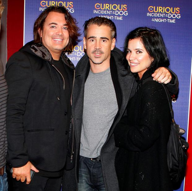 Eamon Farrell ,Colin Farrell and Claudine Farrell