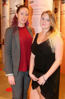 Karen Mooney and Angelika Bronecka pictured at the opening of Platinum, the prestigious annual exhibition of platinum winners of the ADesign Award, which is hosted in Dublin for the first time this year