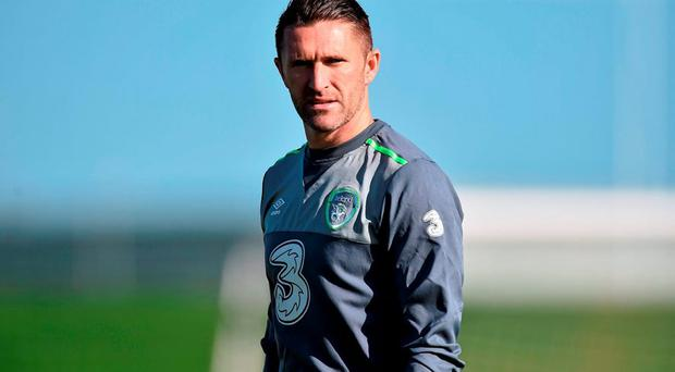 Republic of Ireland's Robbie Keane during squad training. Republic of Ireland Squad Training, FAI National Training Centre, National Sports Campus, Abbotstown, Dublin. Picture credit: David Maher / SPORTSFILE