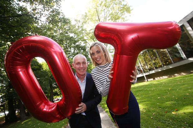 Pictured Presenters Ray D Arcy and Kathryn Thomas