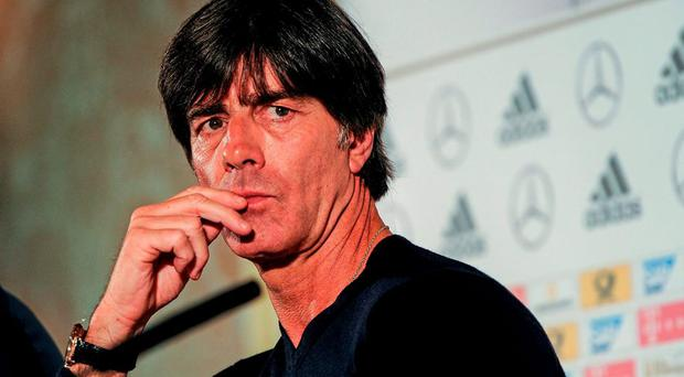 Germany manager Joachim Low during a press conference. Germany Press Conference, Intercontinental Hotel, Ballsbridge, Dublin. Picture credit: Seb Daly / SPORTSFILE
