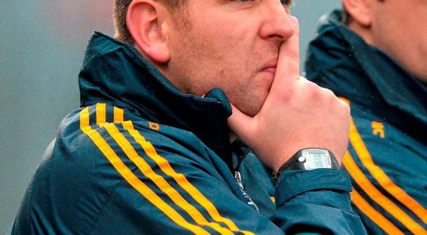 New Kildare manager Cian O'Neill with Eamonn Fitzmaurice in his role as part of the Kerry back-room team