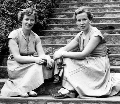 Identical twins Kathleen and Sheila Keogan pictured together as young women Photo: Lorraine Teevan