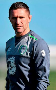 Republic of Ireland's Robbie Keane during squad training