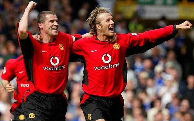 Roy Keane and David Beckham