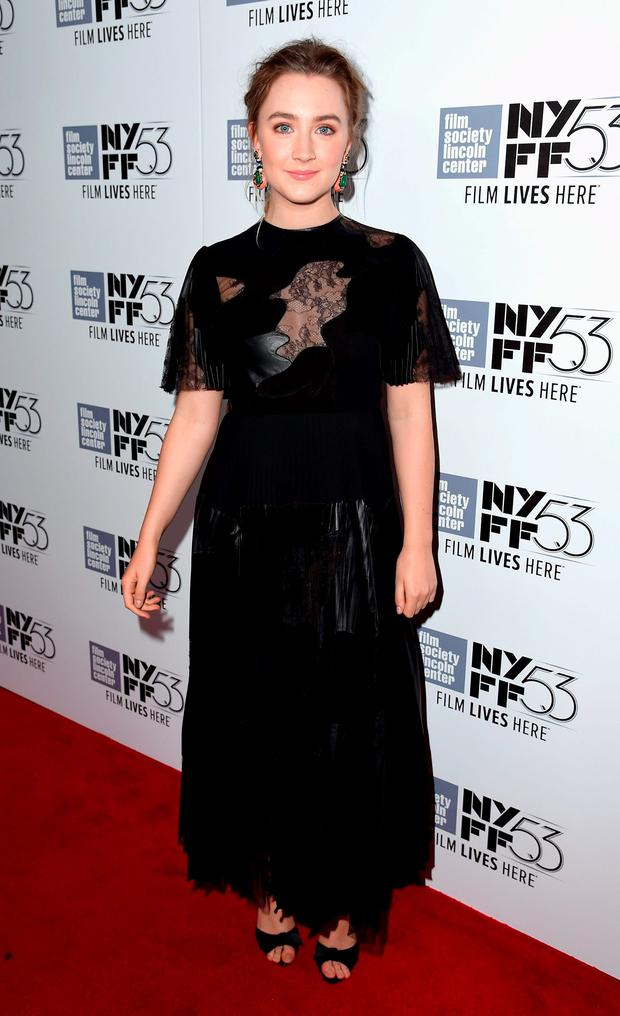 Saoirse Ronan attends the 53rd New York Film Festival premiere of