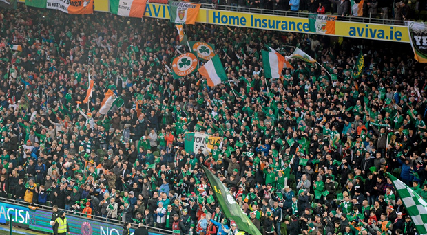 Ireland fans in the YBIG Singing Section