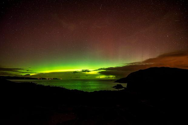 The Northern Lights over Donegal Credit: Adam Rory Porter