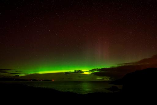 These pictures were taken from Fort Dunree, in Inishowen, County Donegal Credit: Adam Rory Porter