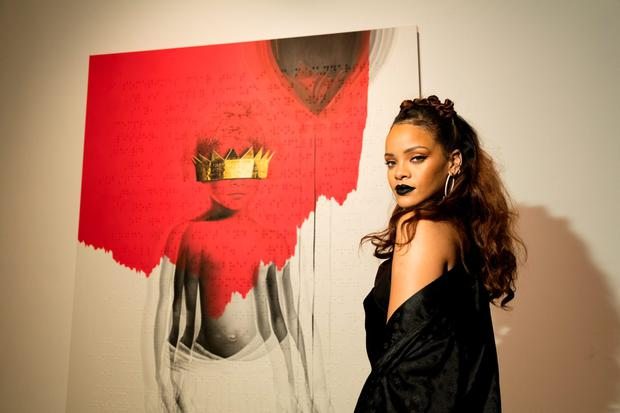 Singer Rihanna at Rihanna's 8th album artwork reveal for