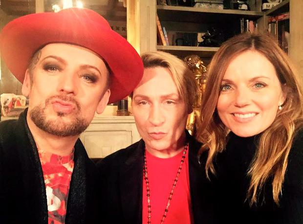 Boy George, Marilyn, Geri Horner (nee Halliwell) will appear in special charity episode of Gogglebox. PIC: Marilyn Peter Robinson Facebook