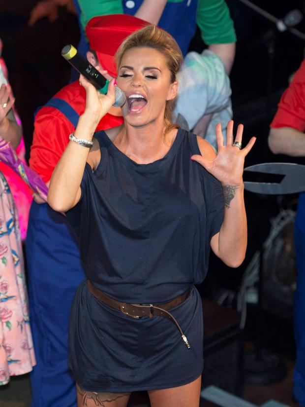 Katie Price performs at The George