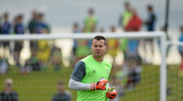 5 October 2015; Republic of Ireland's Shay Given, during squad training. Republic of Ireland Squad Training, FAI National Training Centre, National Sports Campus, Abbotstown, Dublin. Picture credit: David Maher / SPORTSFILE