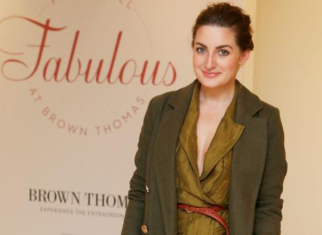 Courtney Smith at a fashion show in Brown Thomas Dublin as they showcased this season looks from The Lingerie Rooms