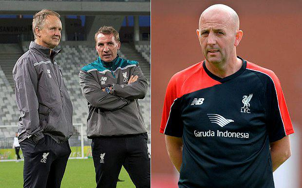 Sean O'Driscoll, left, with Brendan Rodgers, Gary McAllister