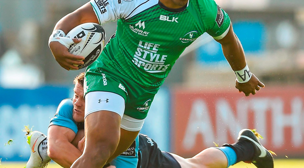 Bundee Aki in action against Cardiff Blues
