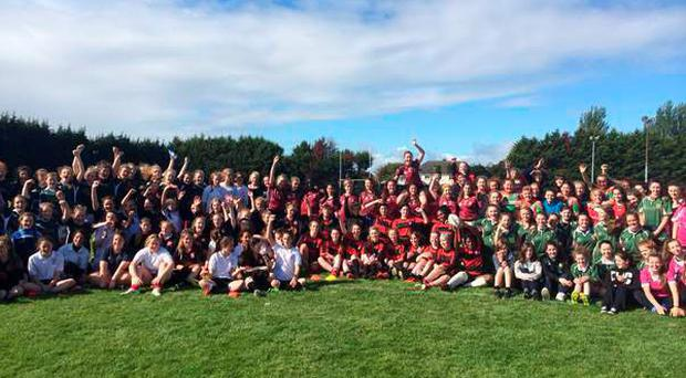 Over 150 girls took part recently in a very impressive Sevens blitz in St Mary's College RFC. Running rugby was the order of the day in the glorious Indian summer sunshine.