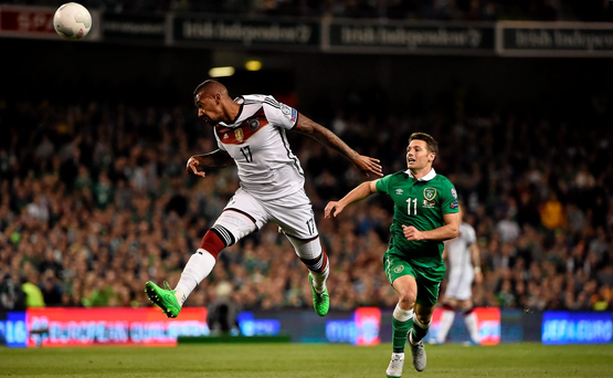 Jerome Boateng of Germany in action against Wes Hoolahan