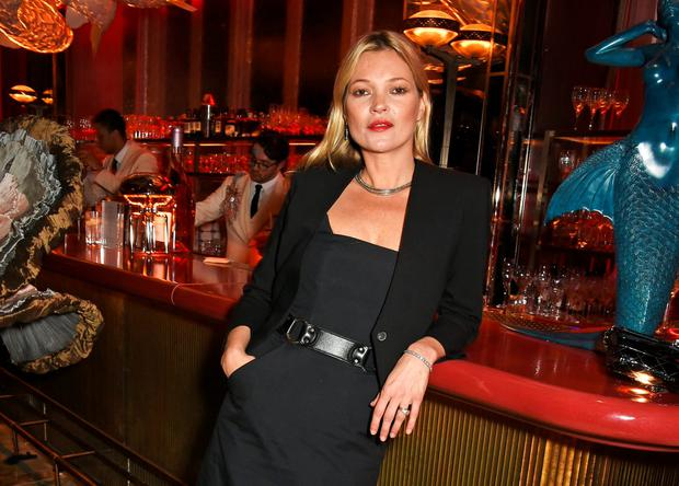 Kate Moss attends the launch of Sexy Fish, London in Berkeley Square on October 8, 2015 in London, England. (Photo by David M. Benett/Dave Benett/Getty Images for Caprice Holdings Limited)