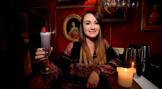 Vicki Notaro with a 'Disco is Dead' cocktail. Peruke and Periwig. Dawson Street, Dublin