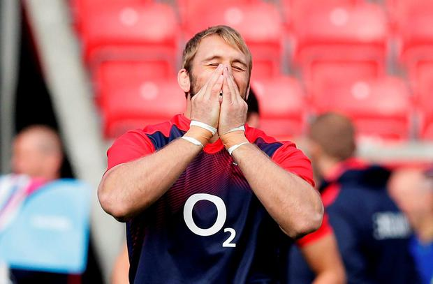 Chris Robshaw of England during training