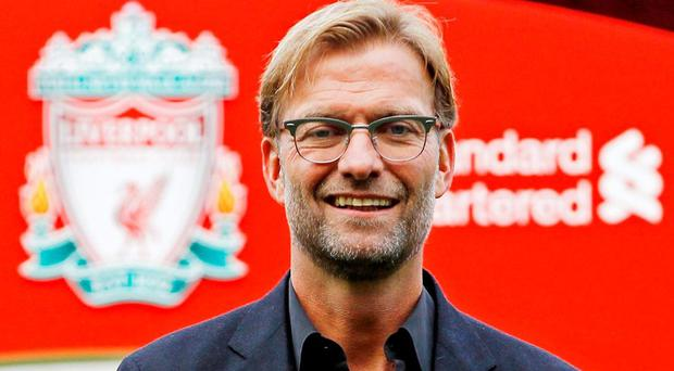 New Liverpool manager Jurgen Klopp poses after the press conference Action Images via Reuters / Craig Brough Livepic
