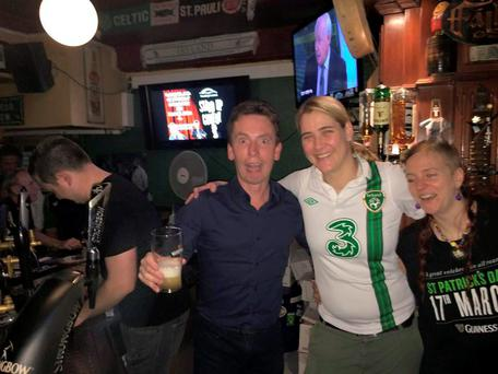 Ken Doherty watched the game in McLaughlin's Irish bar in Dusseldorf