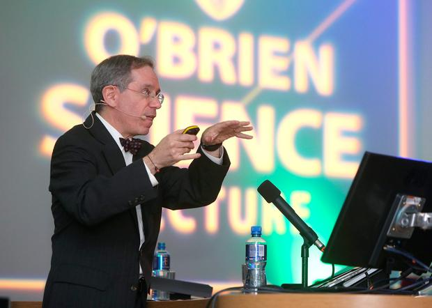 Dr Kenneth Offit speaks at the annual O'Brien science lecture, at the UCD O'Brien centre for science, Dublin. Picture credit; Damien Eagers 8/10/2015