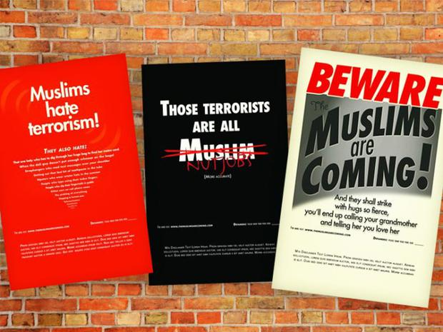 A sample of the ads Credit: themuslimsarecoming.com