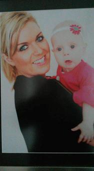 Charlene Campbell and her baby daughter Myla Pic: Belfast Telegraph