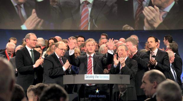 Dear leader: Enda Kenny after giving his Taoiseach's address at the Fine Gael National Conference 2015 earlier this year