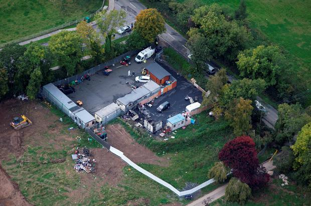 Aerial photograph shows how horror inferno obliterated family home (Photo: David Conachy)