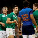 Ireland's Conor Murray celebrates scoring against Frances Action Images via Reuters / Henry Browne Livepic