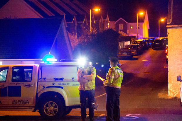 A picture from the scene of the fatal shooting in Omeath, Co Louth Pic: Colin O'Riordan