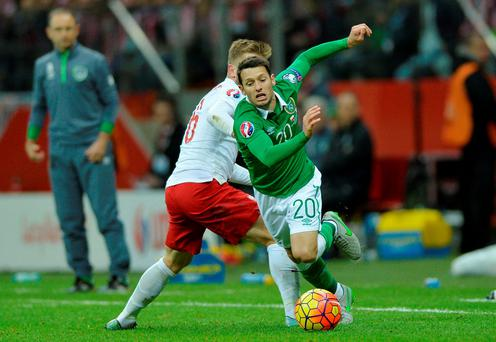 Ireland's Wes Hoolahan will start against Bosnia in Zenica
