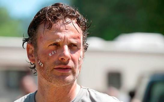 British actor Andrew Lincoln in the sixth series of the hit US show The Walking Dead