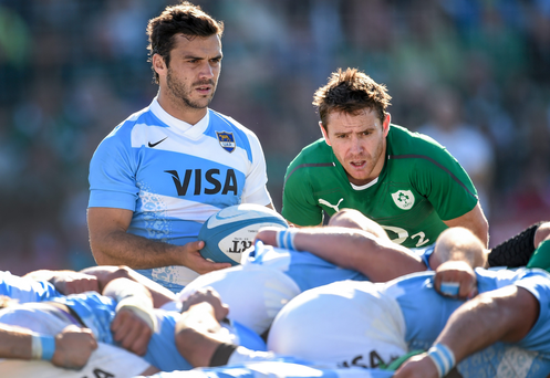 Eoin Reddan in action against Argentina on the 2014 Summer Tour
