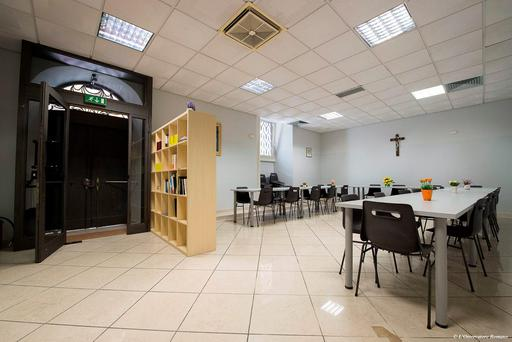 A view of the Vatican's homeless shelter, inaugurated last Oct. 7, 2015 near St. Peter's Square (L'Osservatore Romano/Pool photo via AP)