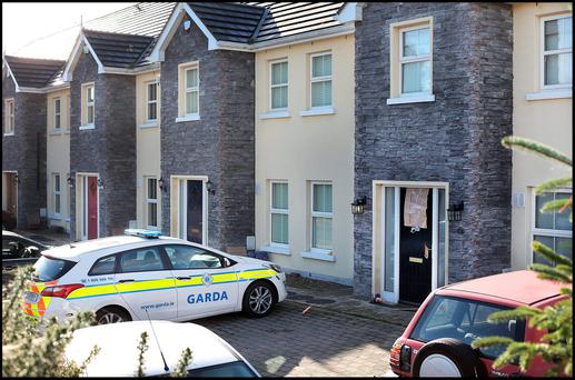 The scene of the shooting in Omeath, Co Louth