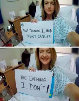 Derbyshire has spoken openly about having the treatment following a diagnosis with breast cancer, in an effort to reassure women that having treatment for the condition is
