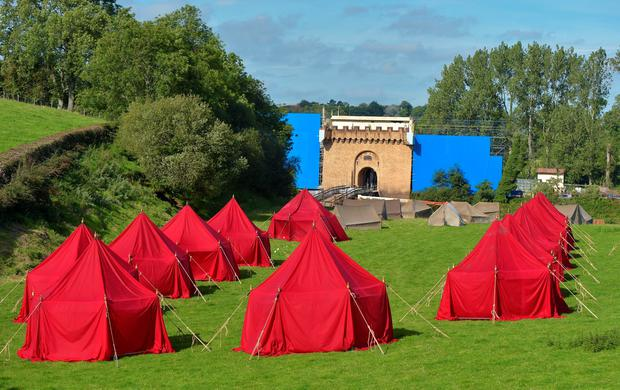 BANBRIDGE, NORTHERN IRELAND - SEPTEMBER 28: A film set is constructed for the Game of Thrones fantasy television series as filming for season six continues on September 28, 2015 in Banbridge, Northern Ireland. (Photo by Charles McQuillan/Getty Images)