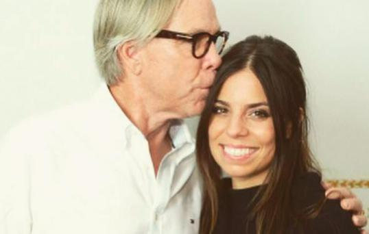 Ally Hilfiger pictured with her father Tommy Hilfiger. Photo Instagram: @AllyHilfiger