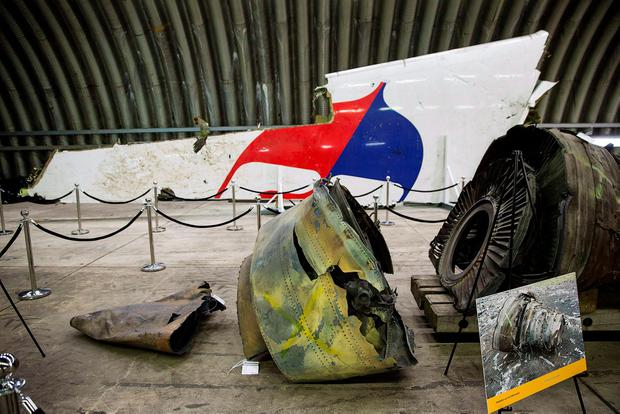 Wreckage of the MH17 airplane is seen after the presentation of the final report into the crash of July 2014 of Malaysia Airlines flight MH17 over Ukraine REUTERS/Michael Kooren