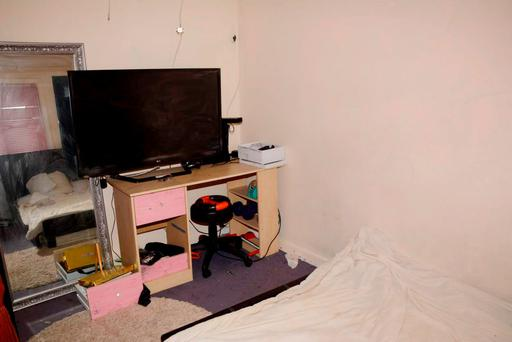 Undated handout photo issued by Avon & Somerset Police of scene photographs released in the Becky Watts murder trial, of her bedroom at 18 Crown Hill, St George, Bristol, where she was allegedly murdered by her stepbrother Nathan Matthews, 28, and his girlfriend Shauna Hoare, 21. Avon & Somerset Police/PA Wire
