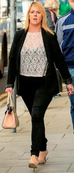 Denise O'Callaghan leaving court yesterday after the court approved a settlement offer of €700,000 in respect of injuries suffered by her son Kurt PIC: COURTPIX
