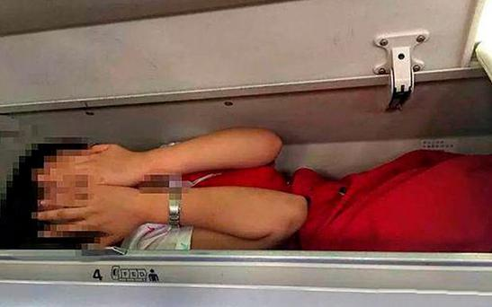 The pictures emerged after some cabin crew were said to have had enough of the ritual Credit: Wechat/Civil Aviation Tabloid