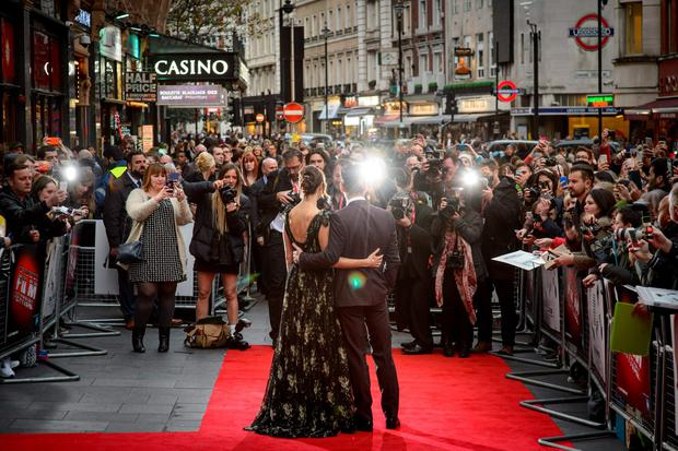 Rachel Weisz and Colin Farrell attending the official screening of The Lobster during the 59th BFI London Film Festival at Vue West End, Leicester Square, London