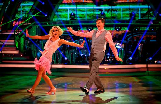 Daniel O'Donnell, with Kristina Rihanoff, taking part in 'Strictly Come Dancing' on Saturday night