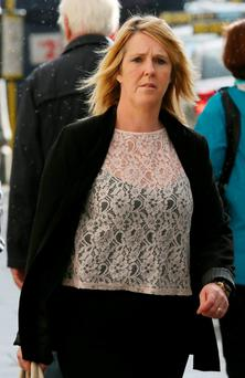 Denise O'Callaghan, mother of Kurt O'Callaghan, leaves court yesterday. Photo: Collins